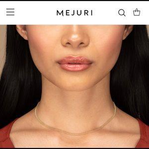 Mejuri triple beaded 14k solid gold chocker chain